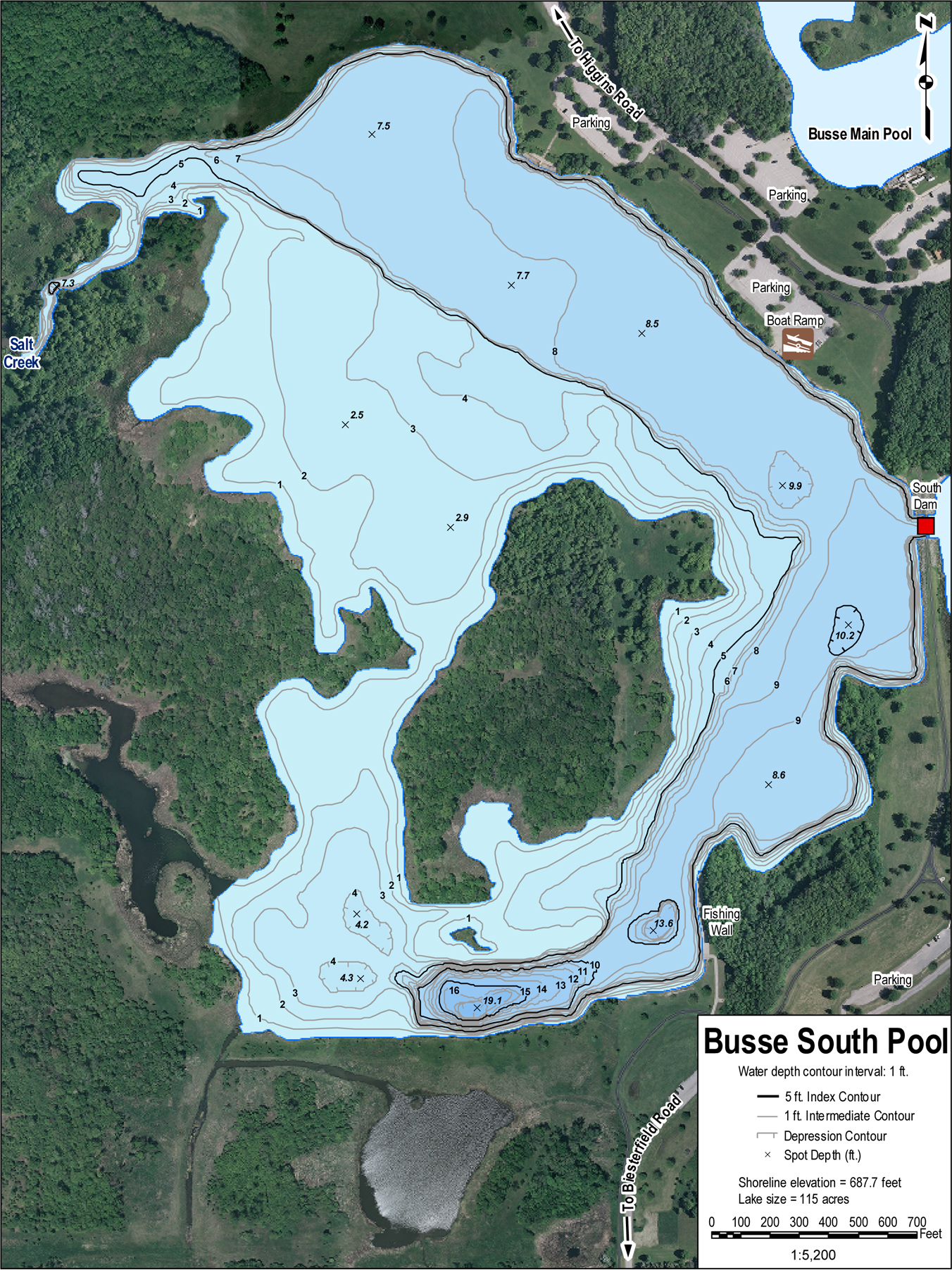 Busse Lake Chicago Area Fishing Information and