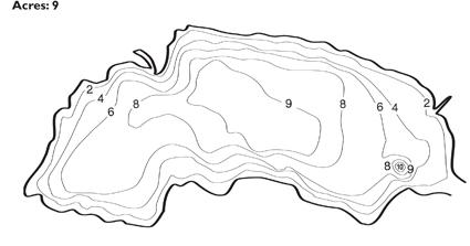 Poss Lake Depth Map